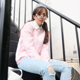 2019 winter loose college wind clouds warm female long sleeve sweaters