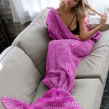 Purple Air Conditioning Blanket Fashion Fish Tail Maxi Dress
