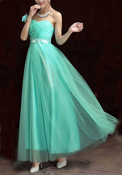 Kelly Green Grenadine Draped Off Shoulder Bridesmaid Wedding Banquet Elegant Party Maxi Dress