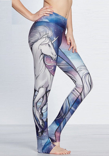 Multicolor Cartoon Print Elastic Waist Fashion Long Leggings