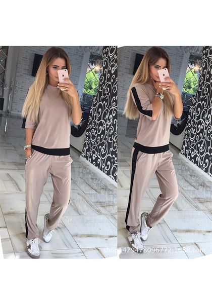 Khaki Patchwork Pockets 2-in-1 Casual Long Jumpsuit