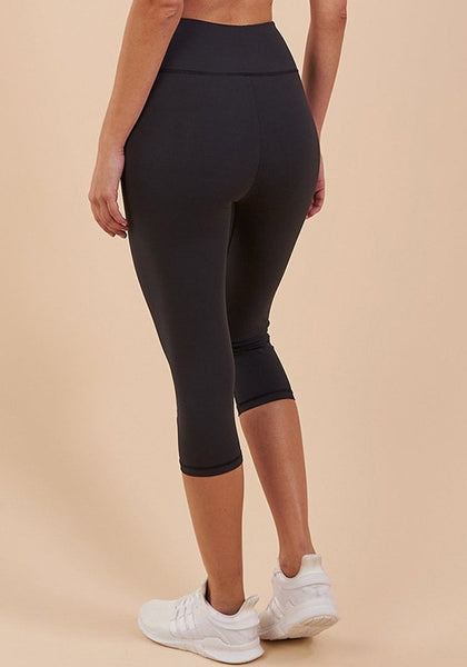 Black Elastic Waist High Waisted Seven's Sports Legging