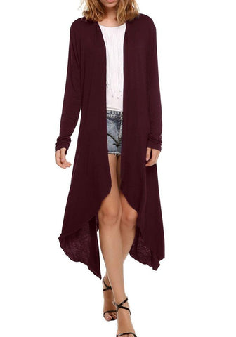 Irregular Long Sleeve Fashion Cardigan Outerwear