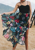 Black Grenadine Side Slit Spaghetti Strap Backless Vegas Beach Maxi Dress