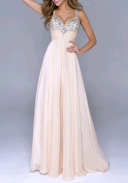 Beige Patchwork Sequin Condole Belt V-neck Wedding Gown Prom Homecoming Party Elegant Maxi Dress
