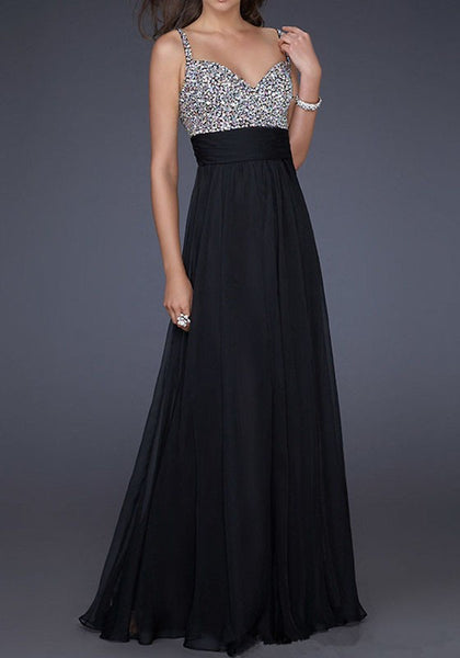 Black Patchwork Sequin Grenadine Condole Belt Draped Bridesmaid Prom Evening Party Maxi Dress