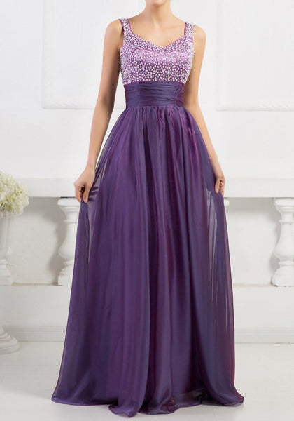 Purple Patchwork Sequin Backless Wedding Bridesmaid Prom Gowns Evening Party Maxi Dress