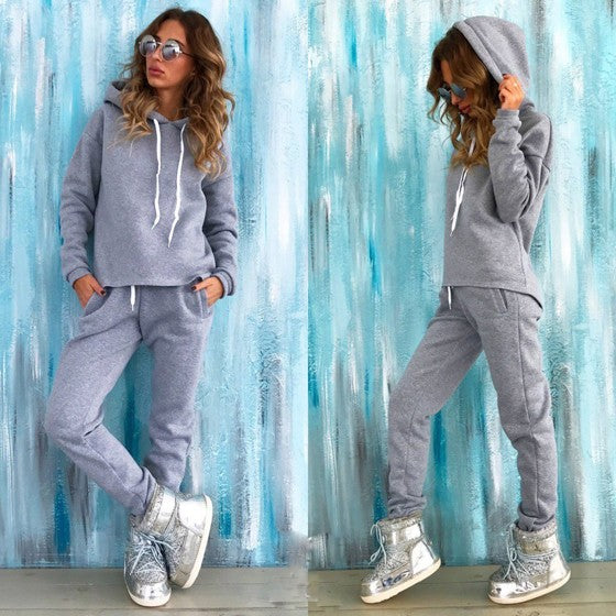 Grey 2-in-1 Pockets Drawstring Waist Casual Long Jumpsuit