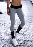 Grey Skinny High Waisted Sports Going Out Yoga Long Legging