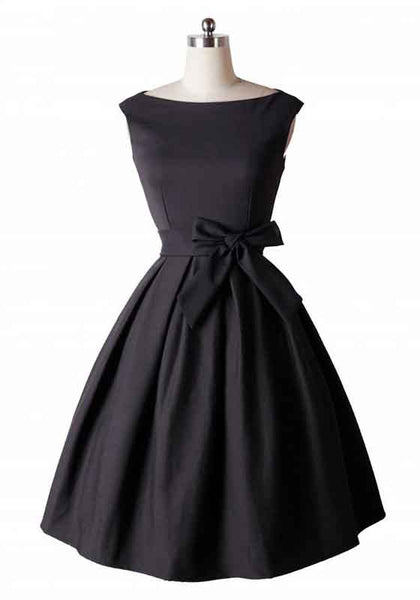 Black Sashes Zipper Pleated Round Neck Sleeveless Midi Dress