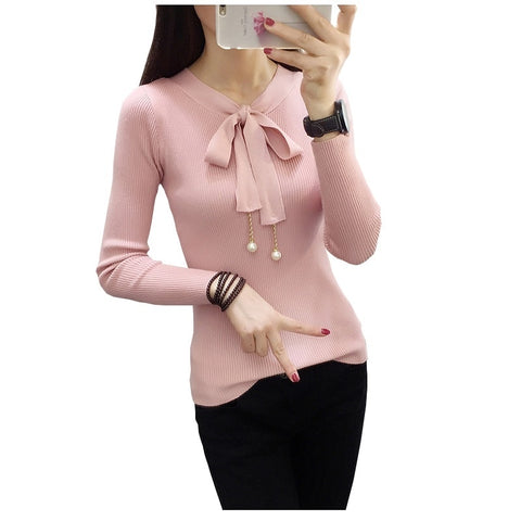 2017 Autumn And Winter New Long Sleeved Sweater Pullover  Backing Female  Sweater