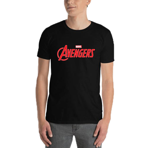 Avengers T shirt Avengers Logo T shirt Black short-sleeve Cotton T shirt for men