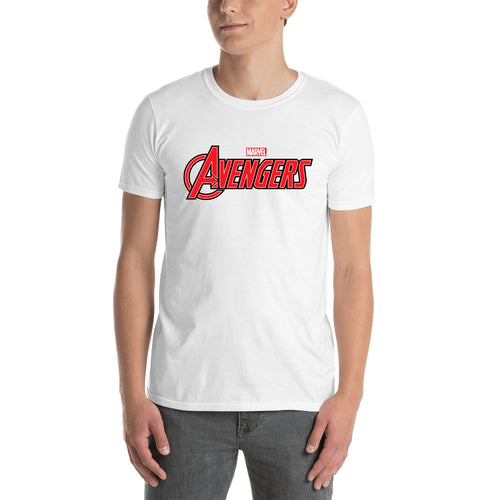 Avengers T shirt Avengers Logo T shirt White short-sleeve Cotton T shirt for men