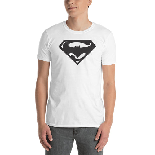 Batman Vs Superman T shirt Superman Logo T shirt Cotton White Short-Sleeve T shirt for men