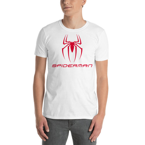 Spiderman T shirt Spider Logo T shirt White Short-Sleeve Cotton T shirt for men
