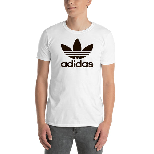 Adidas T shirt Adidas Logo T shirt White Half Sleeve Cotton T shirt for men