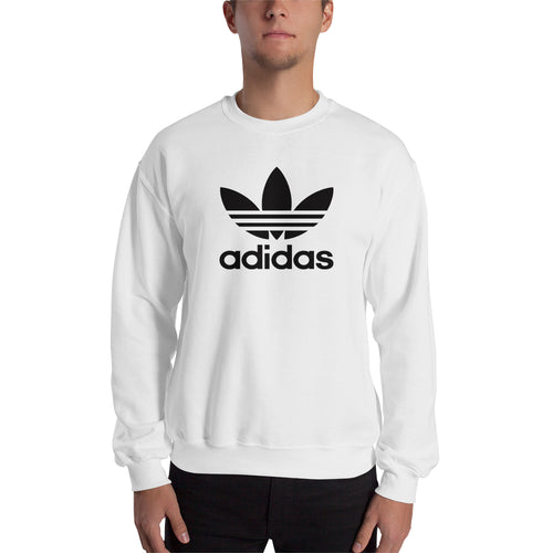 Branded Sweatshirt Adidas Sweatshirt full-sleeve crew neck White sweatshirt for men