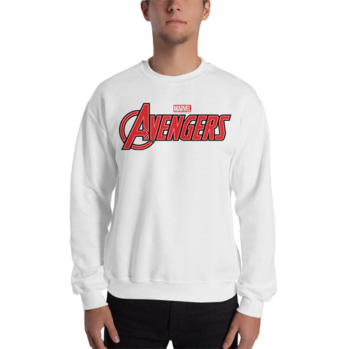 Avengers Sweatshirt Avengers Logo Sweatshirt White Full-sleeve Superheroes Sweatshirt for men