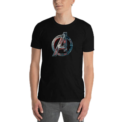 Avengers T shirt Black Short Sleeve Cotton T shirt for men