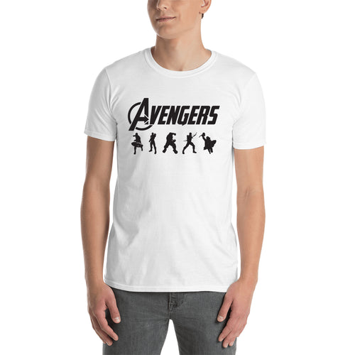 Avengers T shirt Avengers Logo T shirt Short Sleeve Cotton White T shirt for men