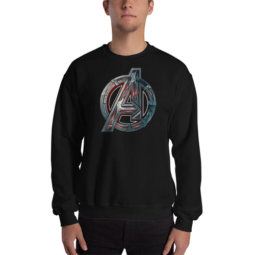 Superheroes Sweatshirt Black Full Sleeve Cotton-Polyester Avengers Sweatshirt for men