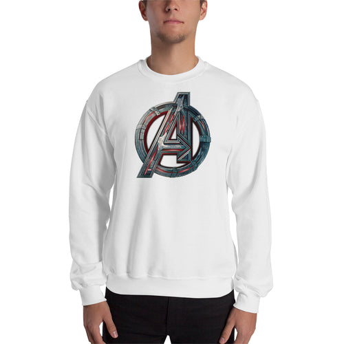 Avengers Sweatshirt White Full Sleeve Cotton-Polyester Superheroes Sweatshirt for men