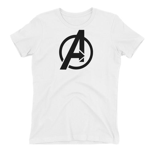 Avengers Logo T shirt Avengers T shirt White Short Sleeve Cotton T shirt for women