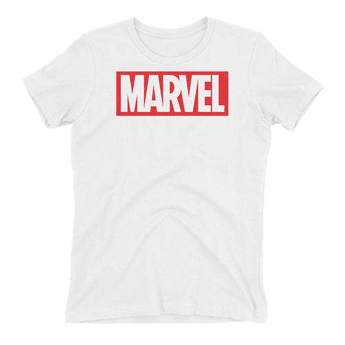 Marvel T shirt White Short Sleeve Cotton T shirt for women