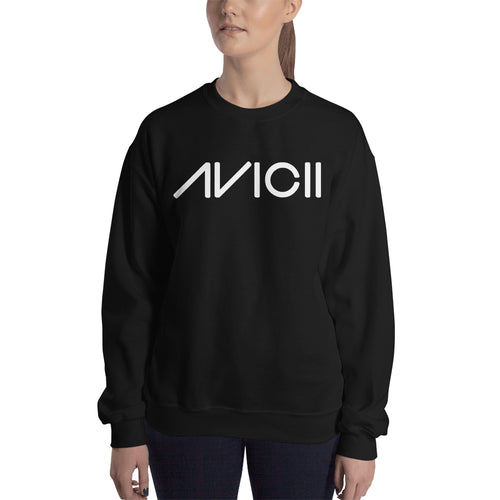 Avicii Sweatshirt Music DJ Sweatshirt Black Full-sleeve Sweatshirt for women