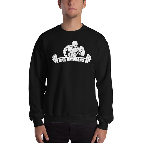 Gym Sweatshirt Bar Veterans Sweatshirt Black Full-sleeve Fitness Sweatshirt for men