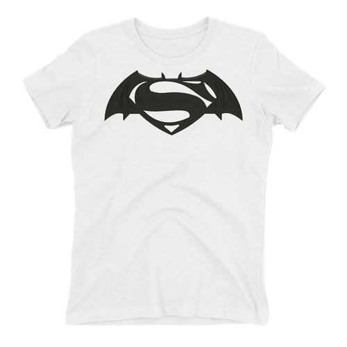Batman Logo T shirt Batman Vs Superman T shirt Cotton White Short-Sleeve T shirt for women