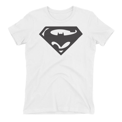 Batman Vs Superman T shirt Superman Logo T shirt Cotton White Short-Sleeve T shirt for women