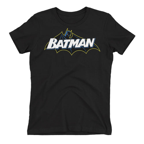 Batman T shirt Cool Super Hero T shirt Cotton Black Half Sleeve T shirt for women