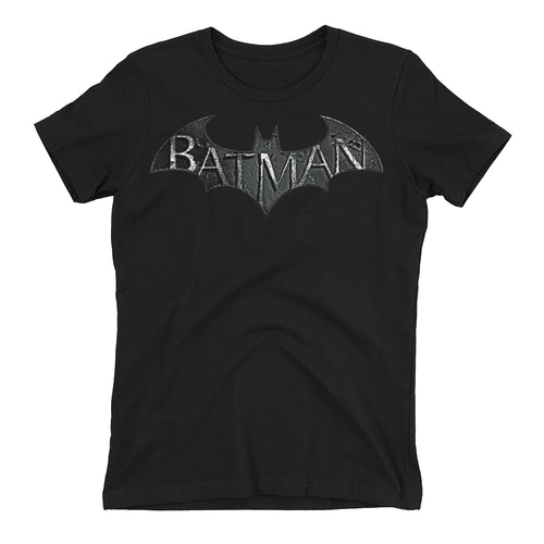 Batman T shirt Super Hero T shirt Black Half Sleeve Cotton T shirt for women