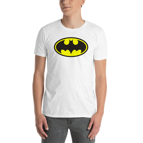 Batman T shirt Batman Logo T shirt Cotton White Half Sleeve T shirt for men