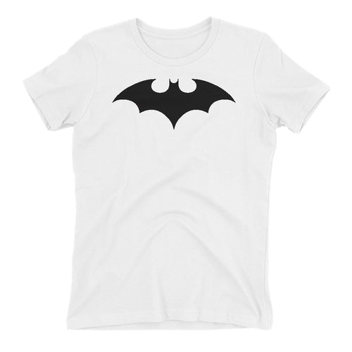 Batman T shirt cool Batman Logo T shirt Cotton White Half Sleeve T shirt for women