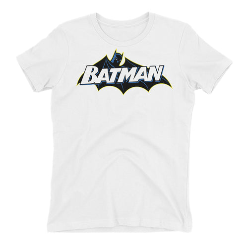 Batman T shirt Cool Super Hero T shirt Cotton White Half Sleeve T shirt for women