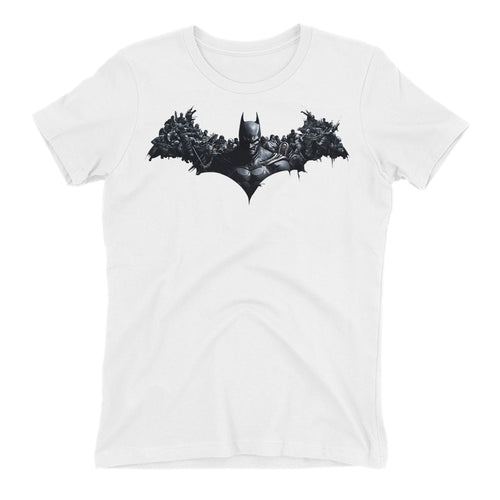 Super Hero T shirt Batman T shirt White Cotton Half Sleeve T shirt for women