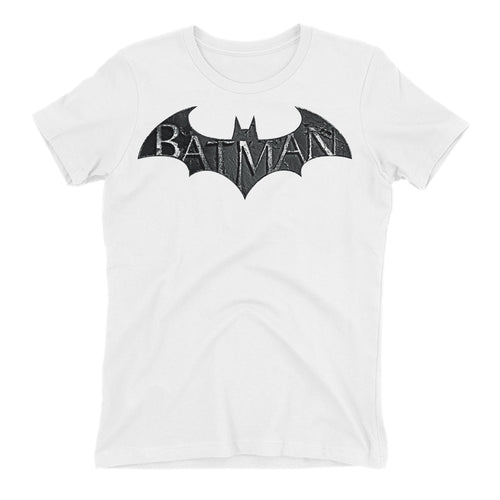 Batman T shirt Super Hero T shirt White Half Sleeve Cotton T shirt for women