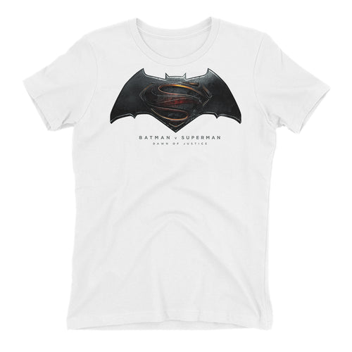 Batman Vs Superman Movie T shirt White Short-Sleeve Cotton T shirt for women