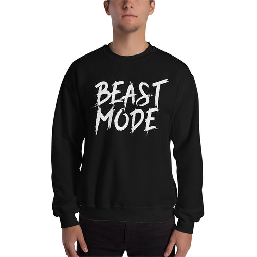 Beast Mode On Sweatshirt Gym Sweatshirt Black Full-sleeve Sweatshirt for men