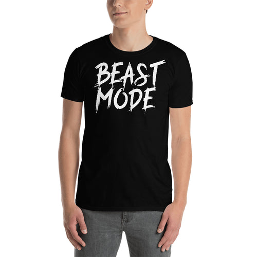 Beast Mode T shirt Fitness Lover T shirt Gym T shirt Black Cotton Short-Sleeve T shirt for men