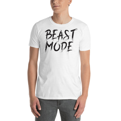 Beast Mode T shirt Fitness Lover T shirt Gym T shirt White Cotton Short-Sleeve T shirt for men