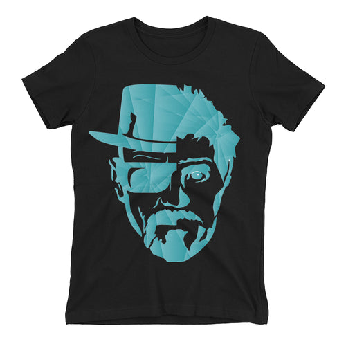 Walter White t shirt Jesse Pinkman t shirt Black short-sleeve Cotton TV series t shirt for women
