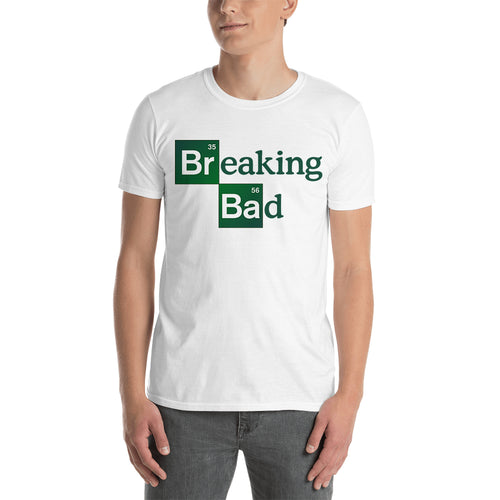 Breaking Bad Logo t shirt Breaking Bad t shirt white short-sleeve Cotton TV series t shirt for men