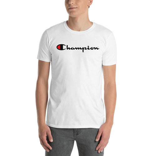 Champion Logo T shirt Champion Brand Logo T shirt White Short-Sleeve T shirt for Men