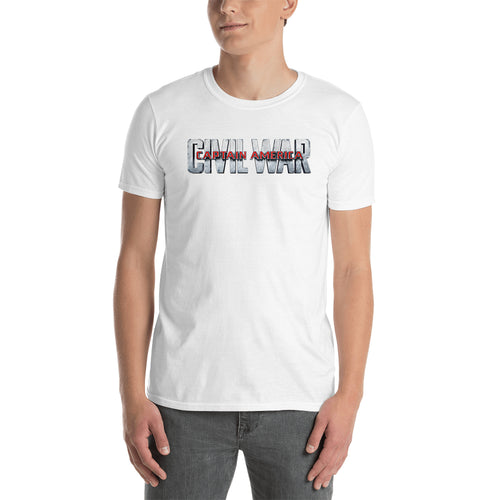 Captain America Civil War T shirt Captain America T shirt Short-Sleeve White Cotton T shirt for men