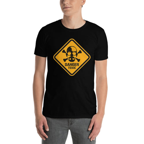 Breaking Bad t shirt Danger Alert t shirt Black Cotton Short-sleeve TV series t shirt for men