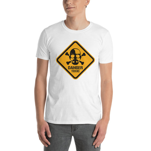 Danger Alert t shirt Breaking Bad t shirt White Cotton Short-sleeve Walter White t shirt for men
