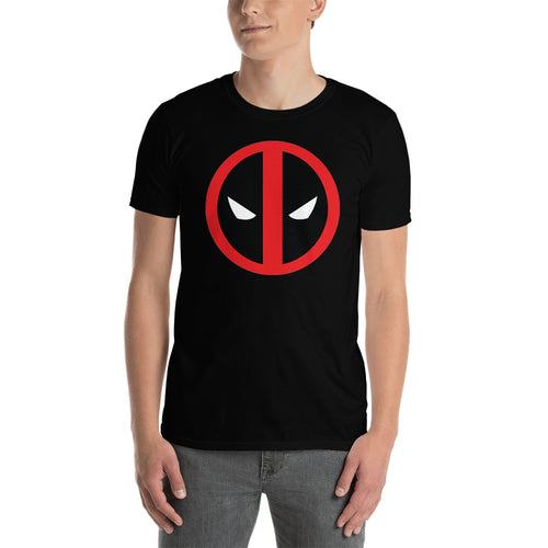 Deadpool T shirt Deadpool Face T shirt Short-Sleeve Black Cotton T shirt for men